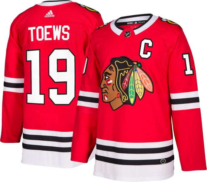 fc4768aa6ba adidas Men's Chicago Blackhawks Jonathan Toews #19 Authentic Pro Home Jersey  1