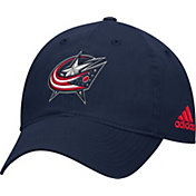 adidas Men's Columbus Blue Jackets Basic Navy Slouch Adjustable Hat