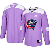 adidas Men's Columbus Blue Jackets Hockey Fights Cancer Authentic Pro Jersey