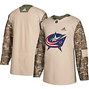 adidas Men's Columbus Blue Jackets Camo Authentic Pro Jersey