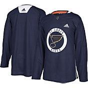 adidas Men's St. Louis Blues Authentic Pro Blue Practice Jersey