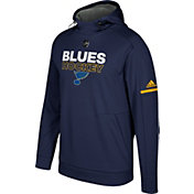 adidas Men's St. Louis Blues Authentic Pro Player Navy Performance Pullover Hoodie