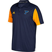 adidas Men's St. Louis Blues Authentic Pro Game Day Navy Performance Polo
