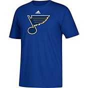 adidas Men's St. Louis Blues Big Logo Royal T-Shirt