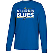 adidas Men's St. Louis Blues Dassler Royal Long Sleeve Shirt