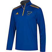 adidas Men's St. Louis Blues Royal Performance Quarter-Zip Jacket
