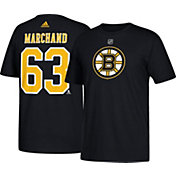 adidas Men's Boston Bruins Brad Marchand #63 Black T-Shirt