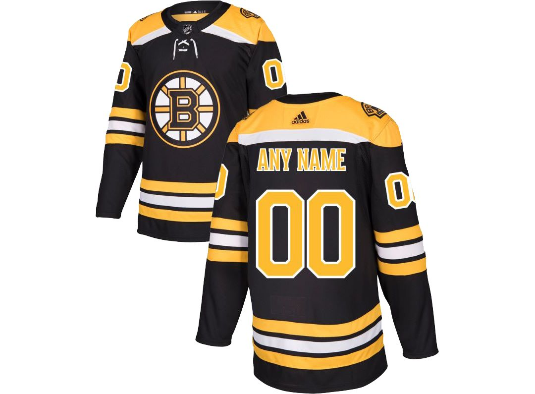 buy online b2402 b450c adidas Men's Custom Boston Bruins Authentic Pro Home Jersey