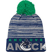 adidas Men's Vancouver Canucks Locker Room Royal Pom Knit Beanie
