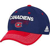 adidas Men's Montreal Canadiens Locker Room Navy Structured Fitted Flex Hat