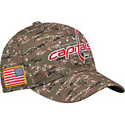 adidas Men's Washington Capitals Camo Structured Fitted Flex Hat