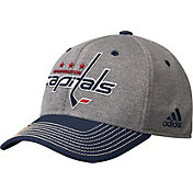 adidas Men's Washington Capitals Two-Color Heather Grey/Navy Snapback Adjustable Hat