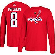 adidas Men's Washington Capitals Alexander Ovechkin #8 Red Long Sleeve Shirt