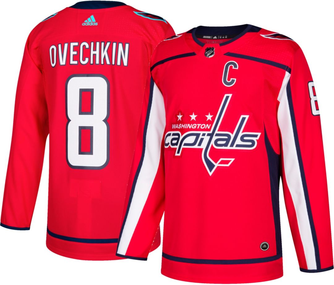 uk availability 2302a 5d1ed adidas Men's Washington Capitals Alexander Ovechkin #8 Authentic Pro Home  Jersey