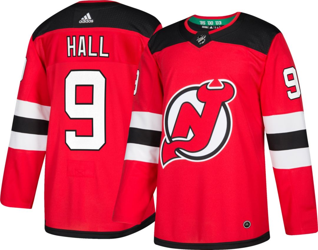official photos ef1a2 03397 adidas Men's New Jersey Devils Taylor Hall #9 Authentic Pro Home Jersey