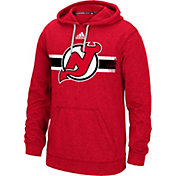 adidas Men's New Jersey Devils Heather Red Pullover Hoodie