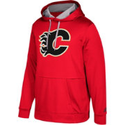 adidas Men's Calgary Flames Red Performance Pullover Hoodie