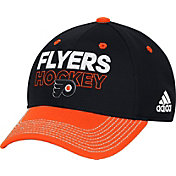 adidas Men's Philadlephia Flyers Locker Room Black Structured Fitted Flex Hat