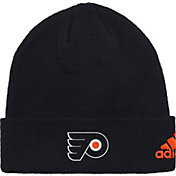 adidas Men's Philadlephia Flyers Basic Black Knit Beanie
