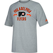 adidas Men's Philadelphia Flyers Misconduct Performance Heather Grey T-Shirt