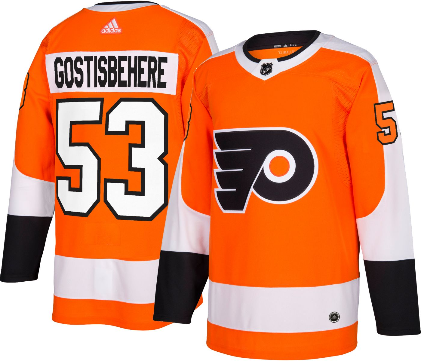 adidas Men's Philadelphia Flyers Shayne Gostisbehere #53 Authentic Pro Home Jersey