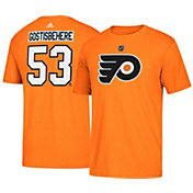 adidas Men's Philadelphia Flyers Shayne Gostisbehere #53 Orange T-Shirt