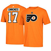 adidas Men's Philadelphia Flyers Wayne Simmonds #17 Orange T-Shirt