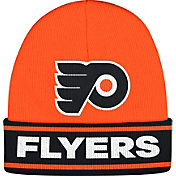 adidas Men's Philadlephia Flyers Logo Orange Knit Beanie