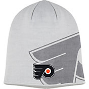 adidas Men's Philadlephia Flyers Logo White Knit Beanie