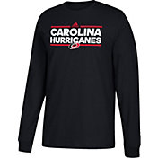 adidas Men's Carolina Hurricanes Dassler Black Long Sleeve Shirt