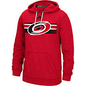 adidas Men's Carolina Hurricanes Heather Red Pullover Hoodie