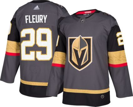 online retailer f94a3 8dc74 adidas Men's Vegas Golden Knights Marc-Andre Fleury #29 Authentic Pro Home  Jersey