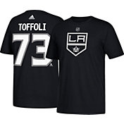 adidas Men's Los Angeles Kings Tyler Toffoli #73 Black T-Shirt