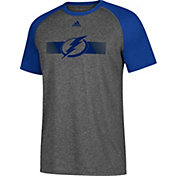 adidas Men's Tampa Bay Lightning Resurface Ultimate Grey Performance T-Shirt
