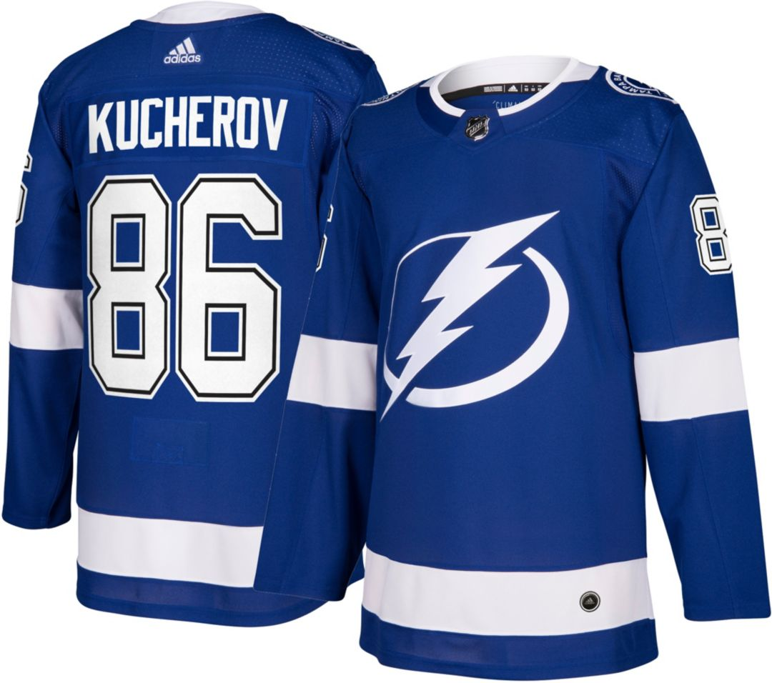 low priced b5592 c9eda adidas Men's Tampa Bay Lightning Nikita Kucherov #86 Authentic Pro Home  Jersey