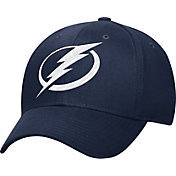 adidas Men's Tampa Bay Lightning Logo Team Colored Basic Structured Navy Flex Hat