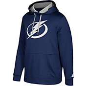 adidas Men's Tampa Bay Lightning Navy Performance Pullover Hoodie