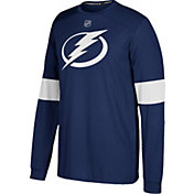 adidas Men's Tampa Bay Lightning Jersey Navy Long Sleeve Shirt