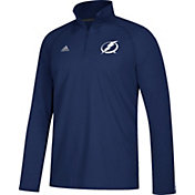 adidas Men's Tampa Bay Lightning Logo Ultimate Royal Performance Quarter-Zip Pullover