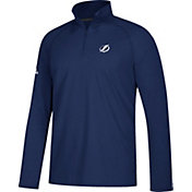 adidas Men's Tampa Bay Lightning Secondary Logo Ultimate Royal Performance Quarter-Zip Pullover