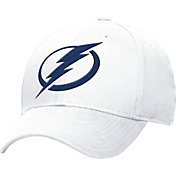 adidas Women's Tampa Bay Lightning Logo Alternate Colored Basic Structured White Flex Hat