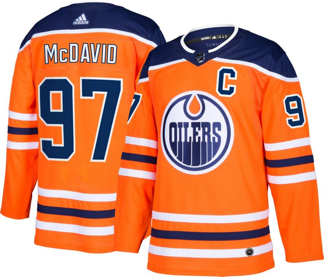 finest selection fb833 52883 adidas Men's Edmonton Oilers Connor McDavid #97 Authentic Pro Home Jersey