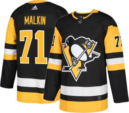 adidas Men s Pittsburgh Penguins Evgeni Malkin  71 Authentic Pro ... 1c6234b00