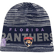 adidas Men's Florida Panthers Hockey Fights Cancer Navy Knit Beanie