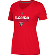 adidas Women's Florida Panthers Authentic Ice Ultimate Red Performance V-Neck T-Shirt