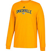 adidas Men's Nashville Predators Smashville Gold Long Sleeve Shirt