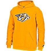 adidas Men's Nashville Predators Logo Gold Pullover Hoodie