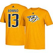 adidas Men's Nashville Predators Nick Bonino #13 Gold T-Shirt