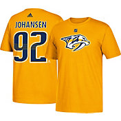 adidas Men's Nashville Predators Ryan Johansen #92 Gold T-Shirt