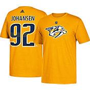 adidas Men's Nashville Predators Ryan Johansen #92 Gold T-Shirt